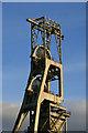 SK5963 : Clipstone Colliery - upcast shaft headgear by Chris Allen
