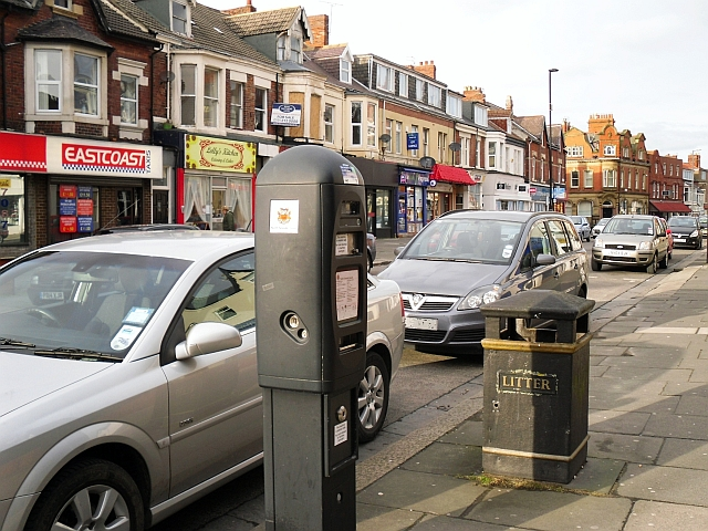 Ticket machine for on-street parking, Station Road