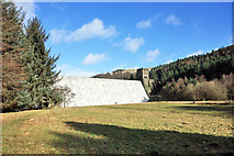 SK1789 : Derwent Dam from below by Peter Church