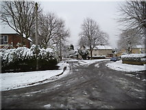 SO9194 : Snowy Gibbons Hill Road by Gordon Griffiths