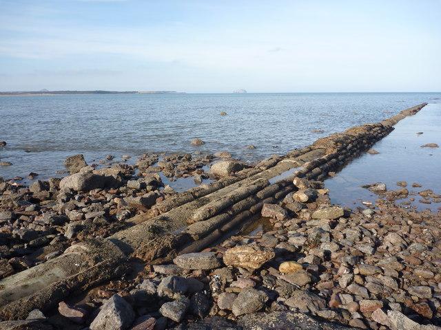 Coastal East Lothian : Belhaven Bay Sewage Outflow Pipe