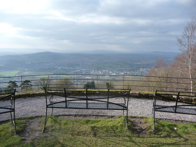 The view from Monmouth to Abergavenny