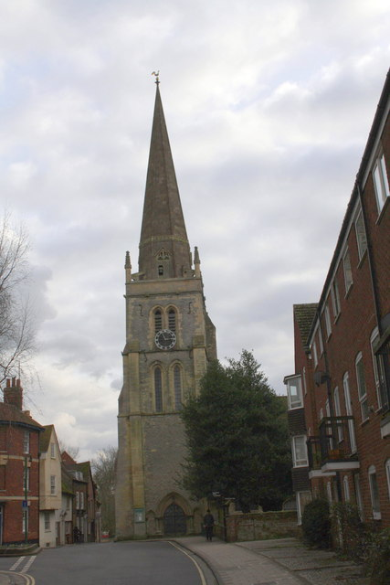 West St Helen Street and St Helen's Church