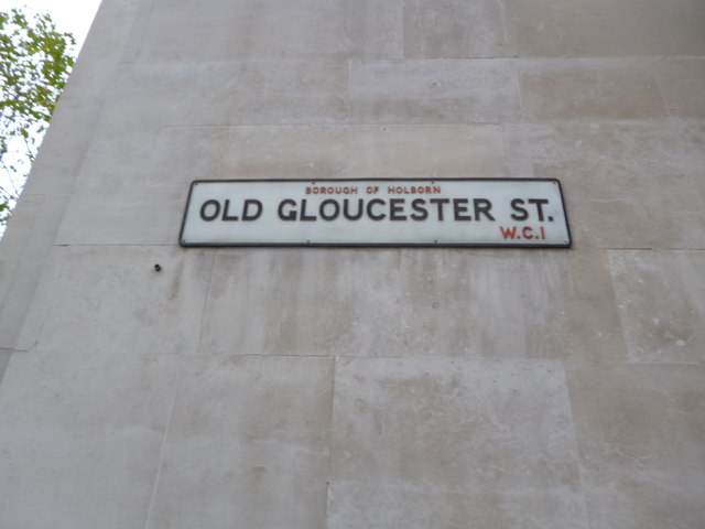 Street sign, Old Gloucester Street WC1