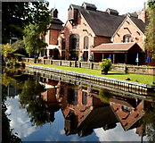 SO8275 : The Watermill pub and its reflection, Kidderminster by Jaggery