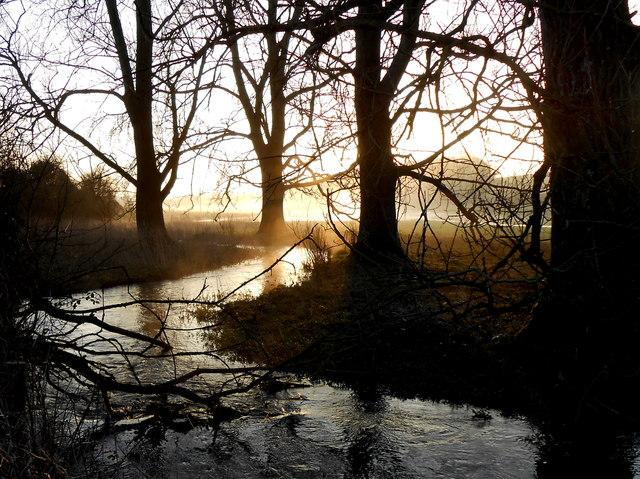 Dawn over The South Winterborne