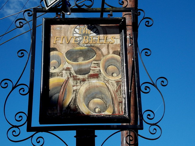 The Five Bells name sign, Royal Wootton Bassett