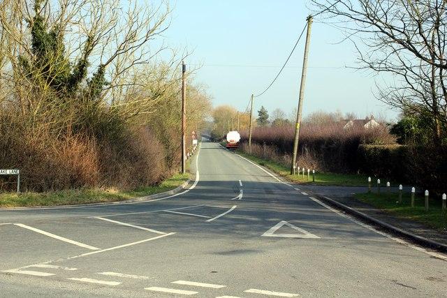 Junction of the B5445 and Rake Lane