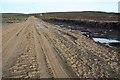 NJ0645 : Windfarm road under construction by Dorothy Carse