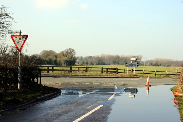 Junction of the A483 and the Straight Mile