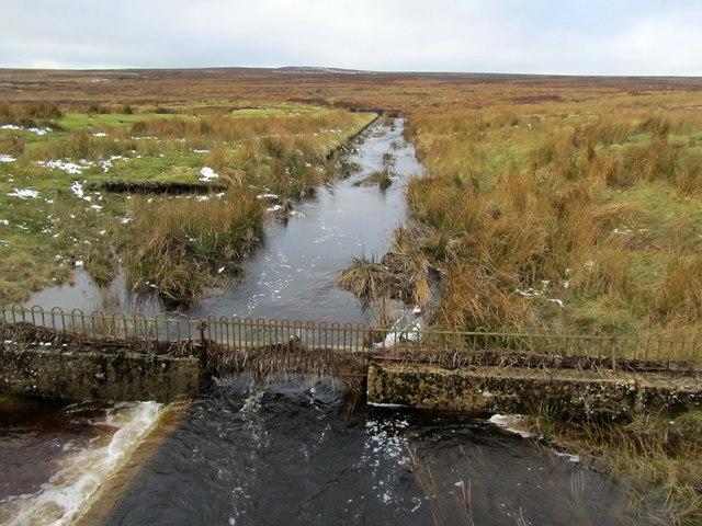 Water Channel running off Hawksworth Moor
