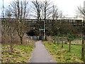 NY3167 : Path under Gretna Green Station by David Dixon