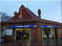 TQ2473 : Southfields Underground Station, Wimbledon Park Road SW18 by Robin Sones