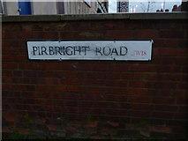 TQ2473 : Street sign, Pirbright Road SW18 by Robin Sones