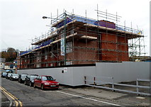 ST5394 : House construction site, Lower Church Street, Chepstow by Jaggery