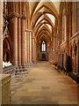 NY3955 : Carlisle Cathedral, South Aisle by David Dixon