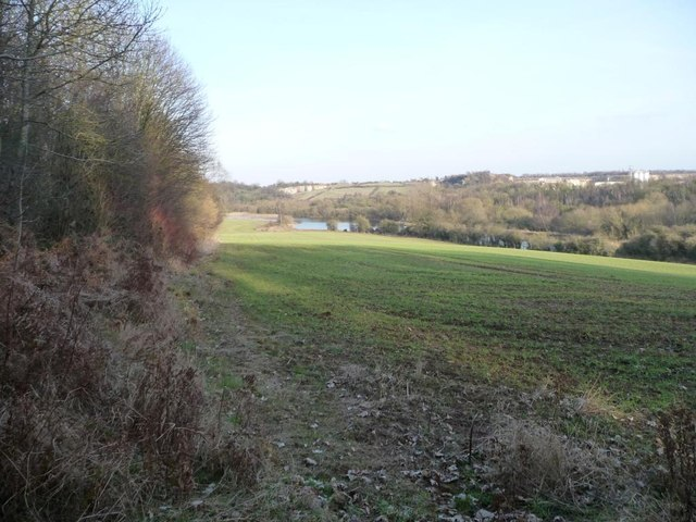 Farmland at the edge of Pot Ridings Wood