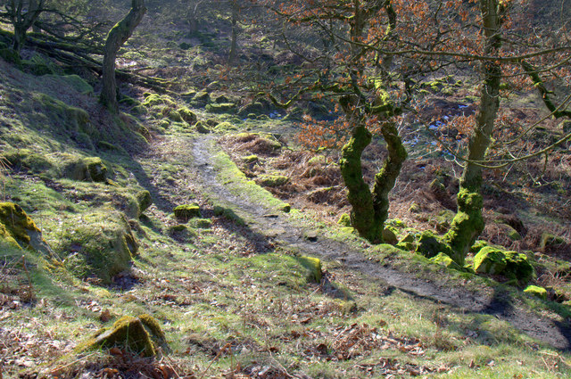 Path down into Padley Gorge