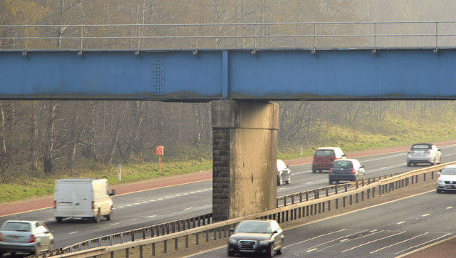 Motorway and railway bridge, Templepatrick (1)