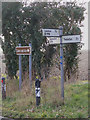 TM4263 : Roadsigns on the B1119 Saxmundham Road by Adrian Cable