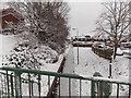 ST3091 : An icy path through Claremont, Malpas, Newport by Jaggery