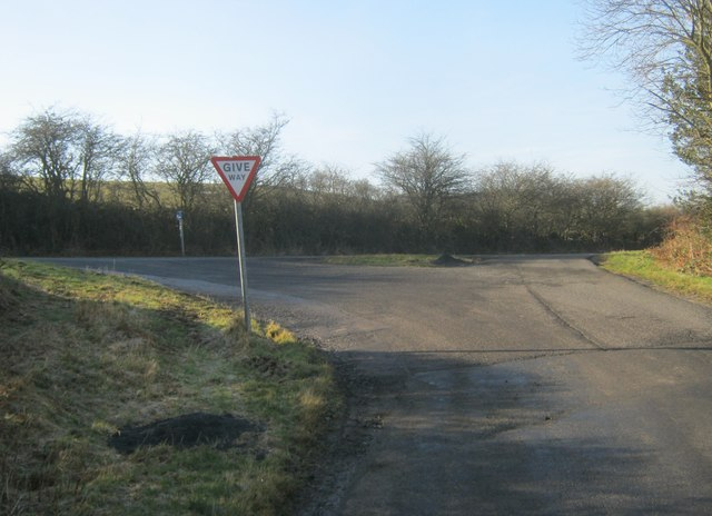 Howlea Lane joining the Hamsterley to Bedburn road