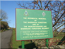 SK3455 : Access road and sign at the foot of Crich Stand by David Beresford