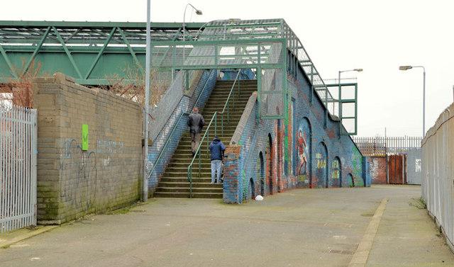 Windsor Park footbridge, Belfast (2013)