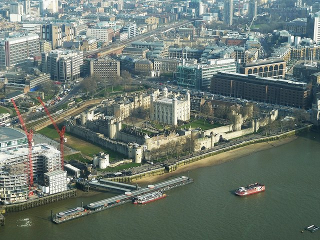 The Tower of London from The Shard