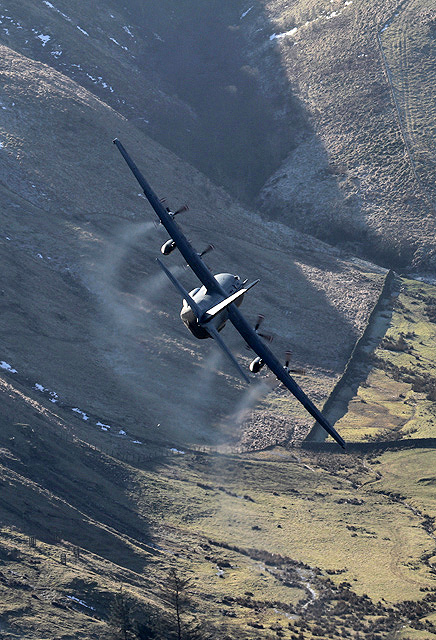 A low flying Hercules at Muchra
