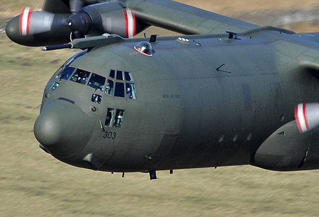 A low flying Hercules near Riskinhope