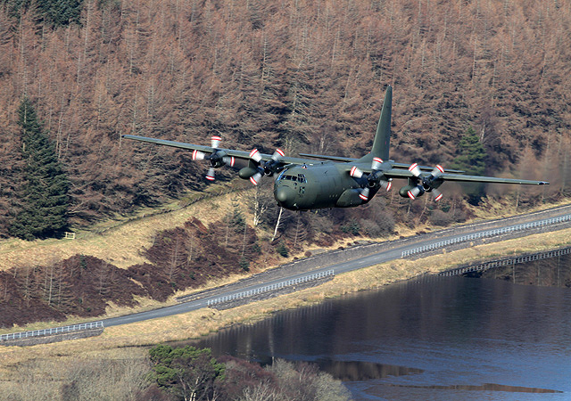A low flying Hercules at Riskinhope
