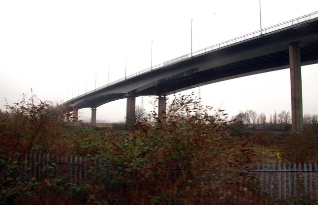 The M5 motorway flyover at Shirehampton