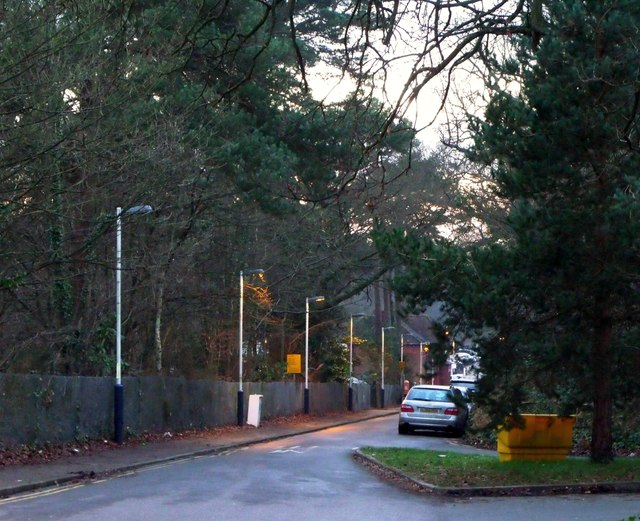 Access road for Oxshott railway station