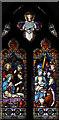 TL9361 : St Ethelbert, Hessett - Stained glass window by John Salmon