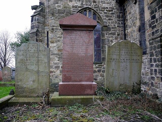 The Hedley family gravestones, St. Michael & All Angels, Newburn