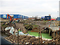 SJ3765 : Sewage leak in Balderton Brook by John S Turner