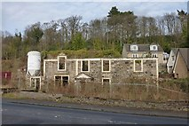 NS4473 : Littlemill Distillery: remains of the exciseman's house by Lairich Rig