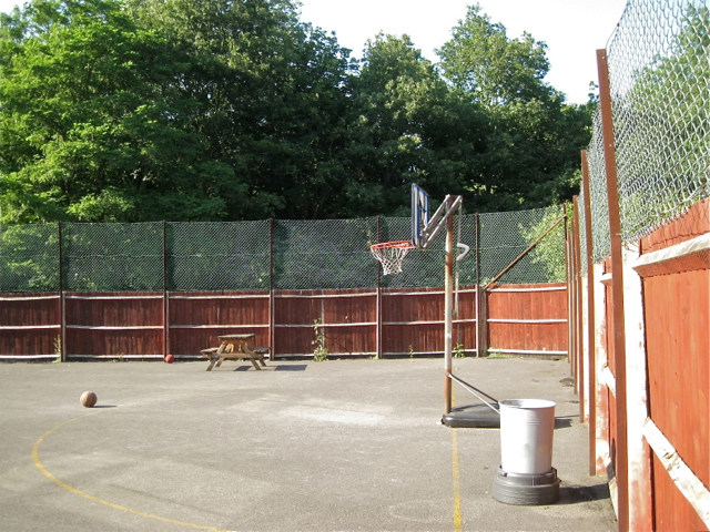 Netball court, King's High, Warwick