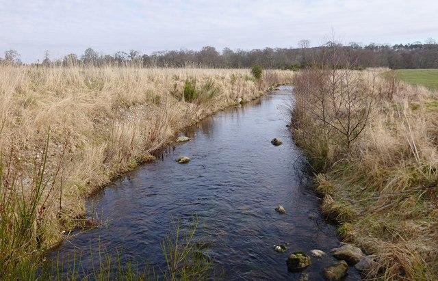 River channel, through Dunglass Island © Craig Wallace cc ...