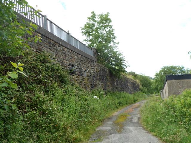 A former railway embankment, Aberfan