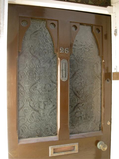 Patterned Glass Panels Door Of 26 Smith Robin Stott