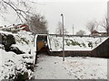 ST3091 : A snowy approach to an underpass, Claremont, Malpas, Newport by Jaggery