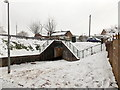 ST3091 : A snowy approach to a Claremont underpass, Malpas, Newport by Jaggery