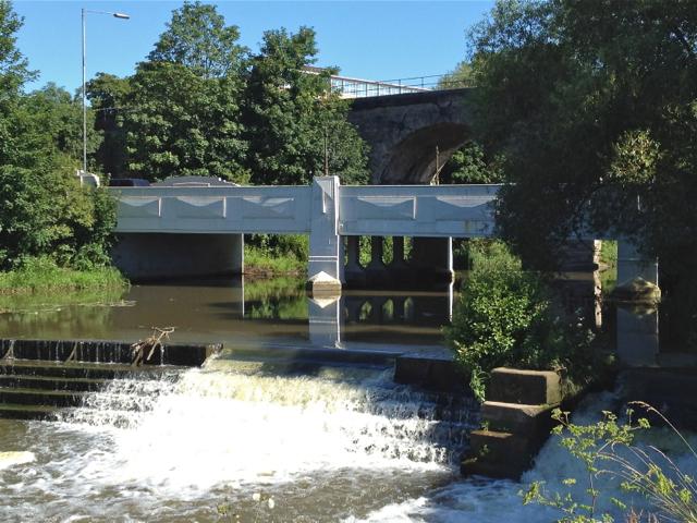 Prince's Bridge and Edmondscote Weir, Leamington