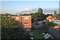 SP2965 : Smoke from a fire near Coventry, seen from Warwick by Robin Stott