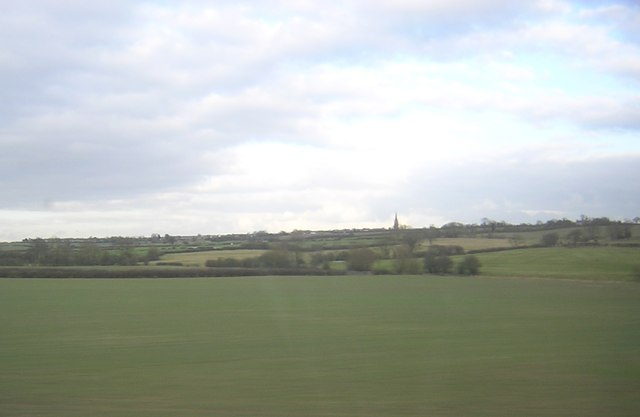 Fields south of Hungate End, from the railway