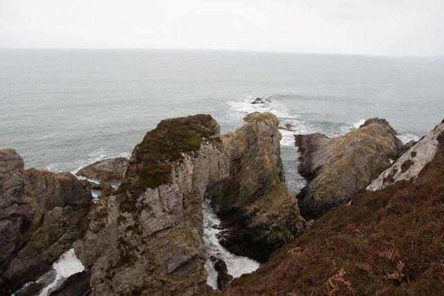 Rock formations near Bolsa, Islay