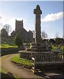 SX7087 : Cross and church, Chagford by Derek Harper