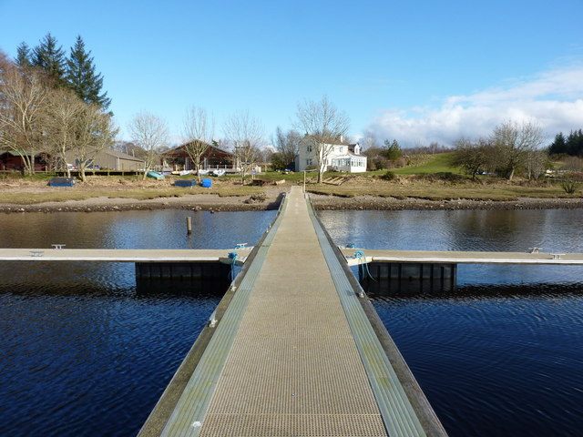 Sailing pontoon and buildings at the Galloway Activity Centre